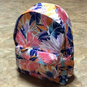 Neon tropical Roxy backpack NWT!